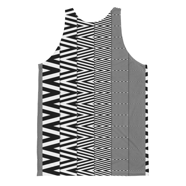 Zig-Zag - Unisex Classic Fit Tank Top - Design Forms Of Art
