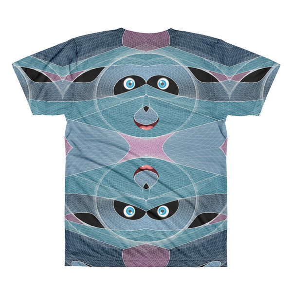 Cyber Smiley Panda - All-Over Printed T-Shirt - Design Forms Of Art