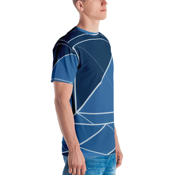 Hipster Blue - Sew Men's T-Shirt - Design Forms Of Art