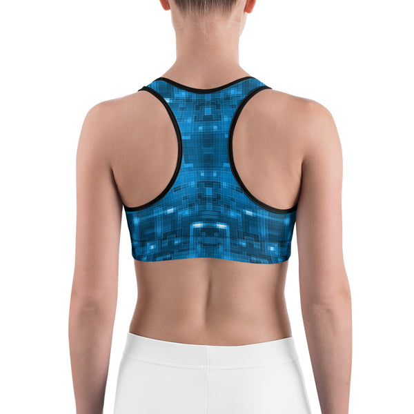 Blue Circuit - Sports bra - Design Forms Of Art