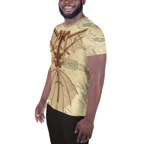 Leonardo Da Vinci - A • All-Over Print Men's Athletic T-shirt - Design Forms Of Art