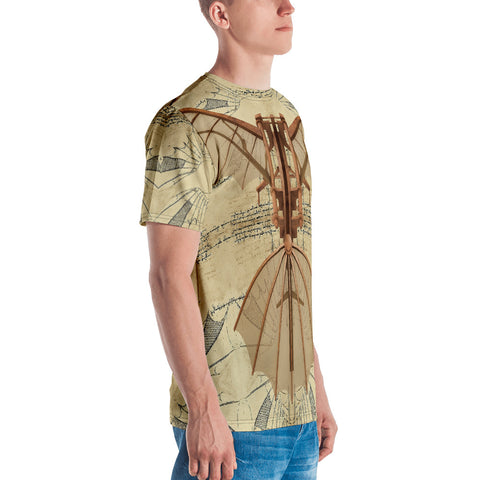 Leonardo Da Vinci - A • Men's T-shirt - Design Forms Of Art