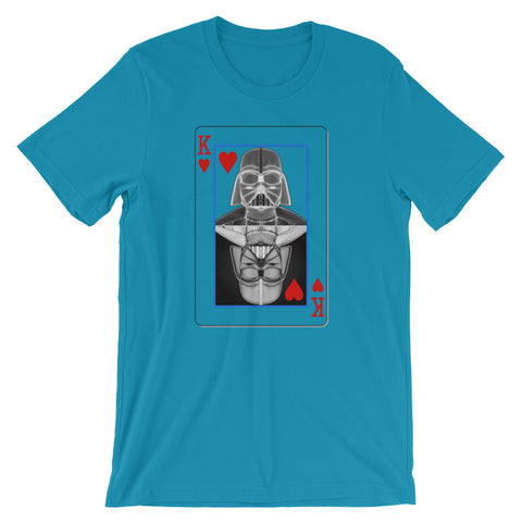 Darth Vader - King of Hearts - Short-Sleeve Unisex T-Shirt - Design Forms Of Art