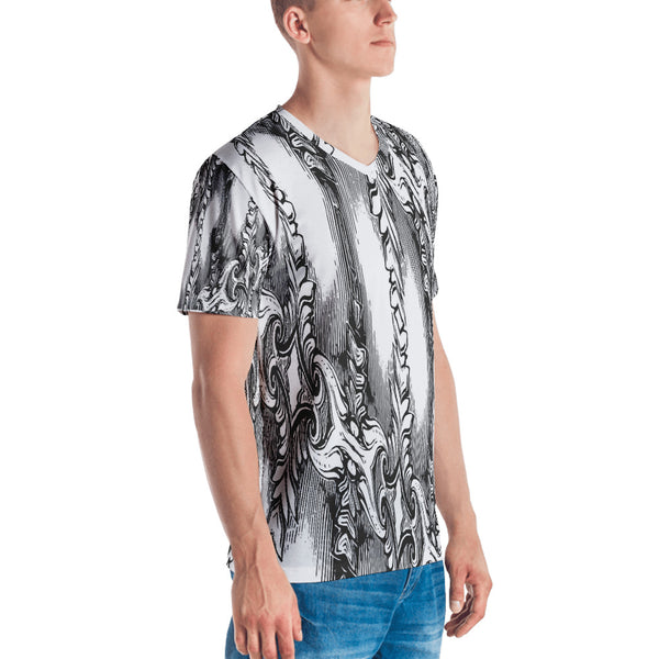 Drawingness - Men's V-Neck T-shirt - Design Forms Of Art