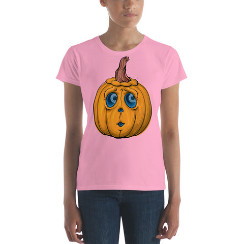 Halloween Cute Pumpkin - Women's Short Sleeve T-Shirt - Design Forms Of Art