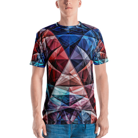 Color Filled Triangles - Sew Men's T-shirt - Design Forms Of Art