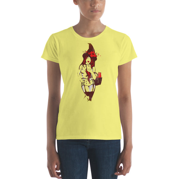 Hot Halloween Girl - Women's short sleeve t-shirt - Design Forms Of Art