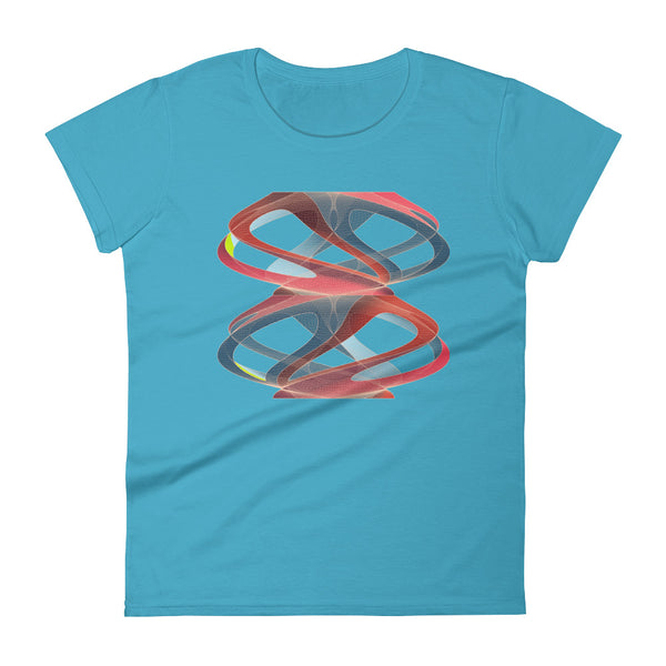 Twisted Shapeallization - Women's short sleeve t-shirt - Design Forms Of Art