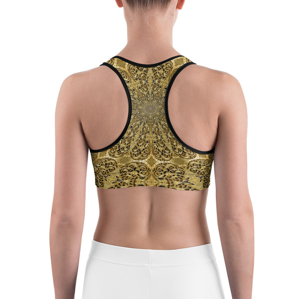 Golden Engravingdness - Sports bra - Design Forms Of Art