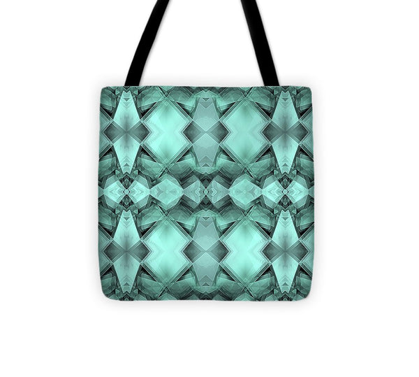 Ornamental Green Crystal - Tote Bag - Design Forms Of Art