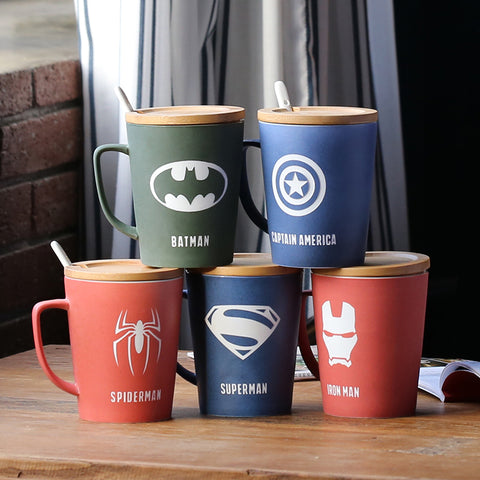 Avengers | Justice League - Mugs With Cover and Spoon • Free Shipping