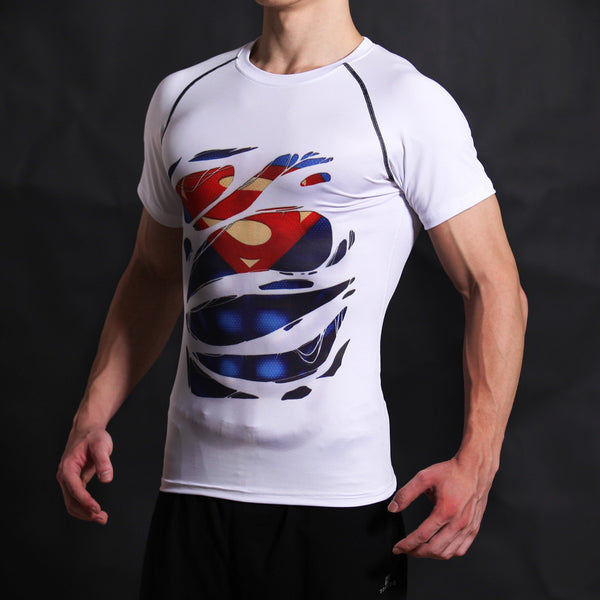 Superman Compression Short Sleeve Shirt • Free Shipping