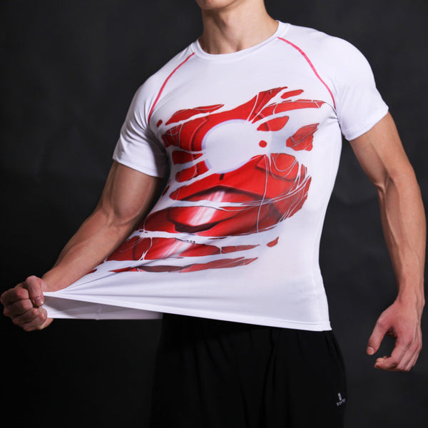Iron Man Compression Short Sleeve Shirt • Free Shipping - Design Forms Of Art