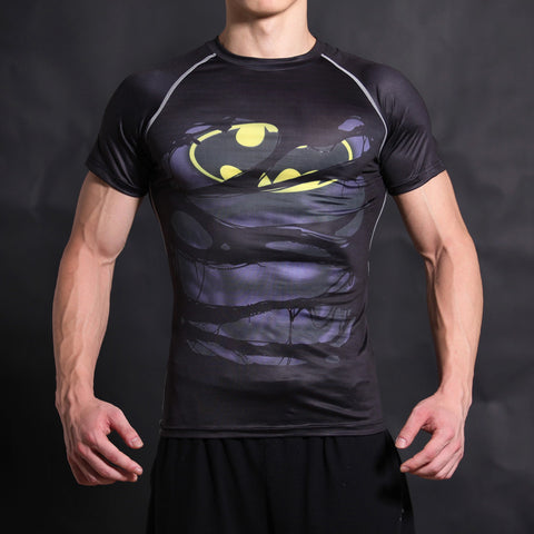 Batman Compression Short Sleeve Shirt • Free Shipping - Design Forms Of Art