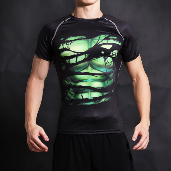 Hulk Compression Short Sleeve Shirt • Free Shipping - Design Forms Of Art