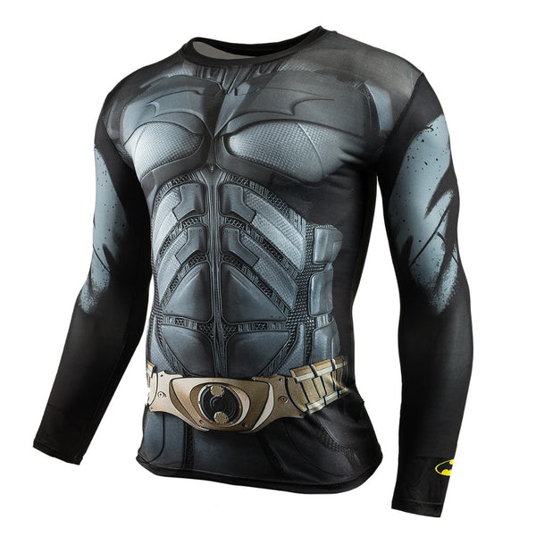 Batman Compression Long Sleeve Shirt - A • Free Shipping - Design Forms Of Art