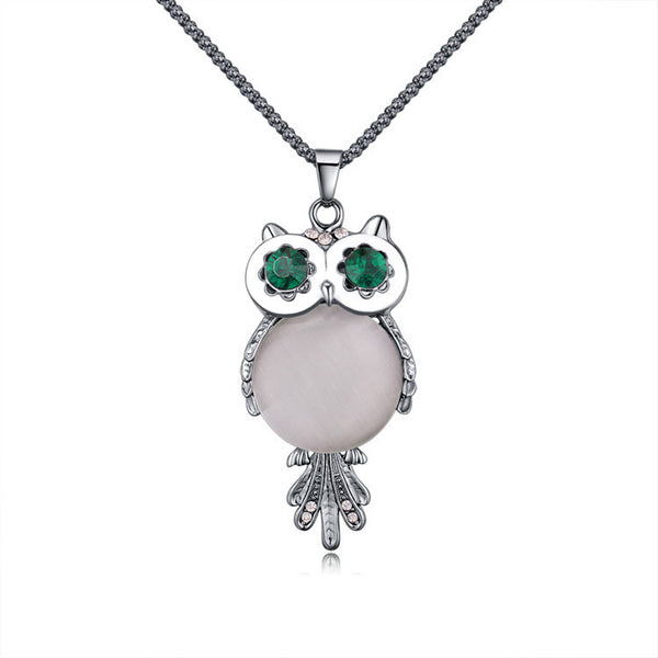 Owl Crystal Necklace - Design Forms Of Art