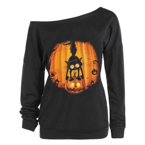 Halloween Women Long Sleeve Pullover • Free Shipping - Design Forms Of Art