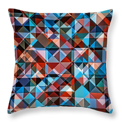 Colorful Retro Hipster Mosaic  - Throw Pillow - Design Forms Of Art