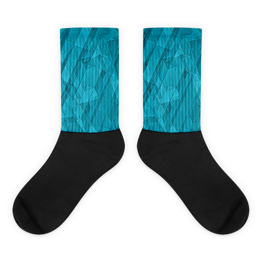 Blue Crystallization Socks - Design Forms Of Art