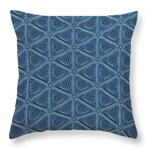 Triangle Wire Fractallization - Throw Pillow - Design Forms Of Art