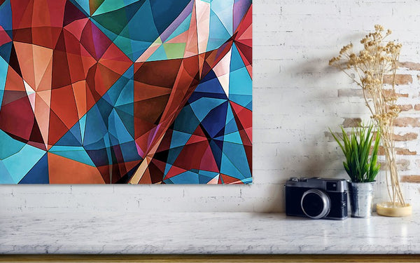 Triangular Crowd - Watercolor - Art Print - Design Forms Of Art