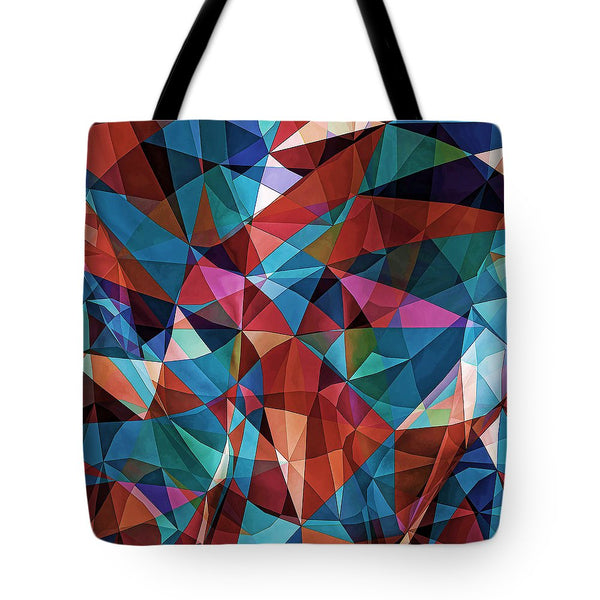 Triangular Crowd  - Tote Bag - Design Forms Of Art