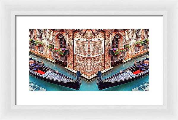 Venice Romantic Corner Dream - Painting - Framed Print - Design Forms Of Art