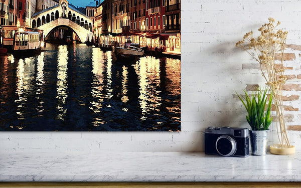 Venice Night Dream - Oil Painting - Art Print