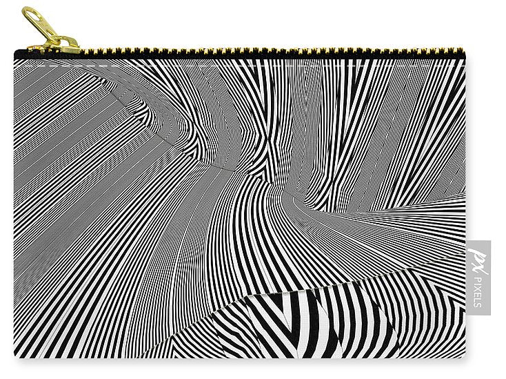 Wavemazing Stripeallization - Carry-All Pouch - Design Forms Of Art
