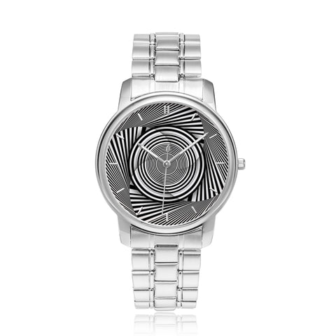 Hypno Circle Swirl - Ba • Luxury Art Watch - Design Forms Of Art