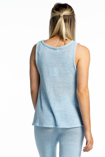 Isabelle Slouchy Top (Blue)