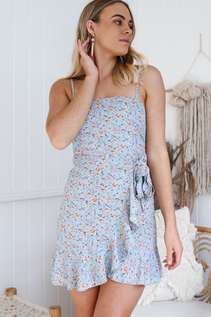Sophia Wrap Dress (Baby Blue)