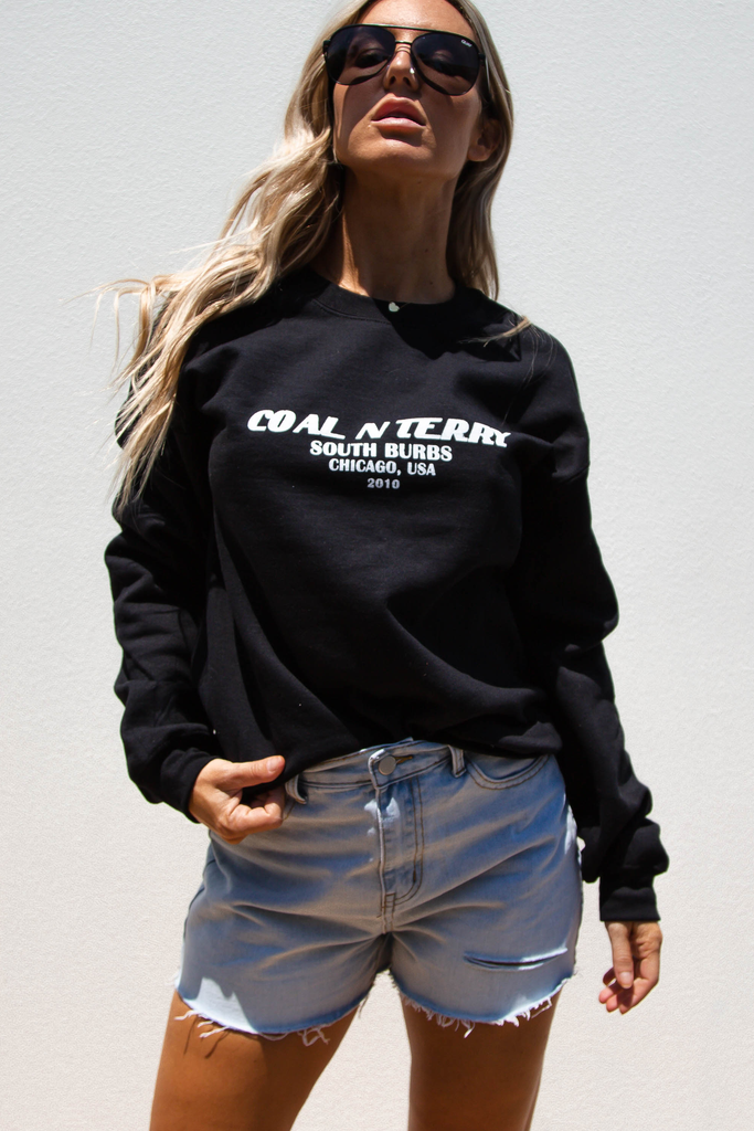 South Burbs Crew Jumper (Black)