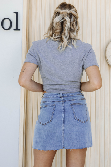 Jada Denim Skirt (Blue Wash)