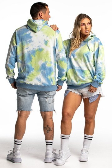 Palm Springs Hoodie (Lime/Blue)