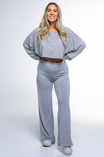 LOUNGE Long Sleeve Top (Alaska Grey)