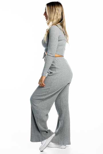 Skylar Ribbed Pants (Grey)