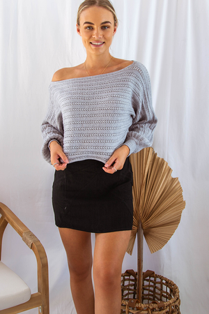 Mia Slouchy Knit (Grey)