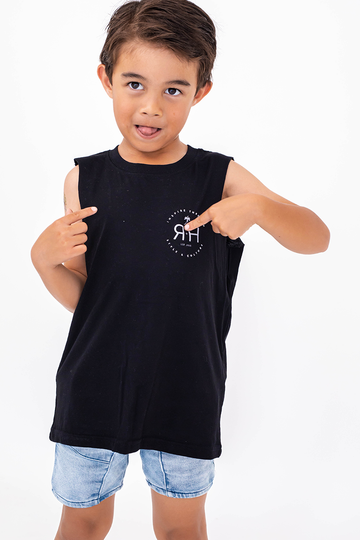 KIDS Palm Springs Singlet (Black)