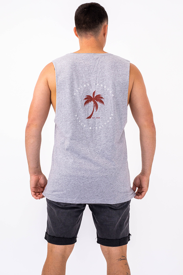 Palm Springs Singlet (Grey Marle)