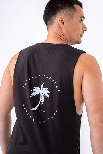 Palm Springs Singlet (Coal)