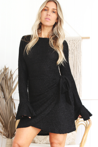 Sasha Wrap Dress (Black)