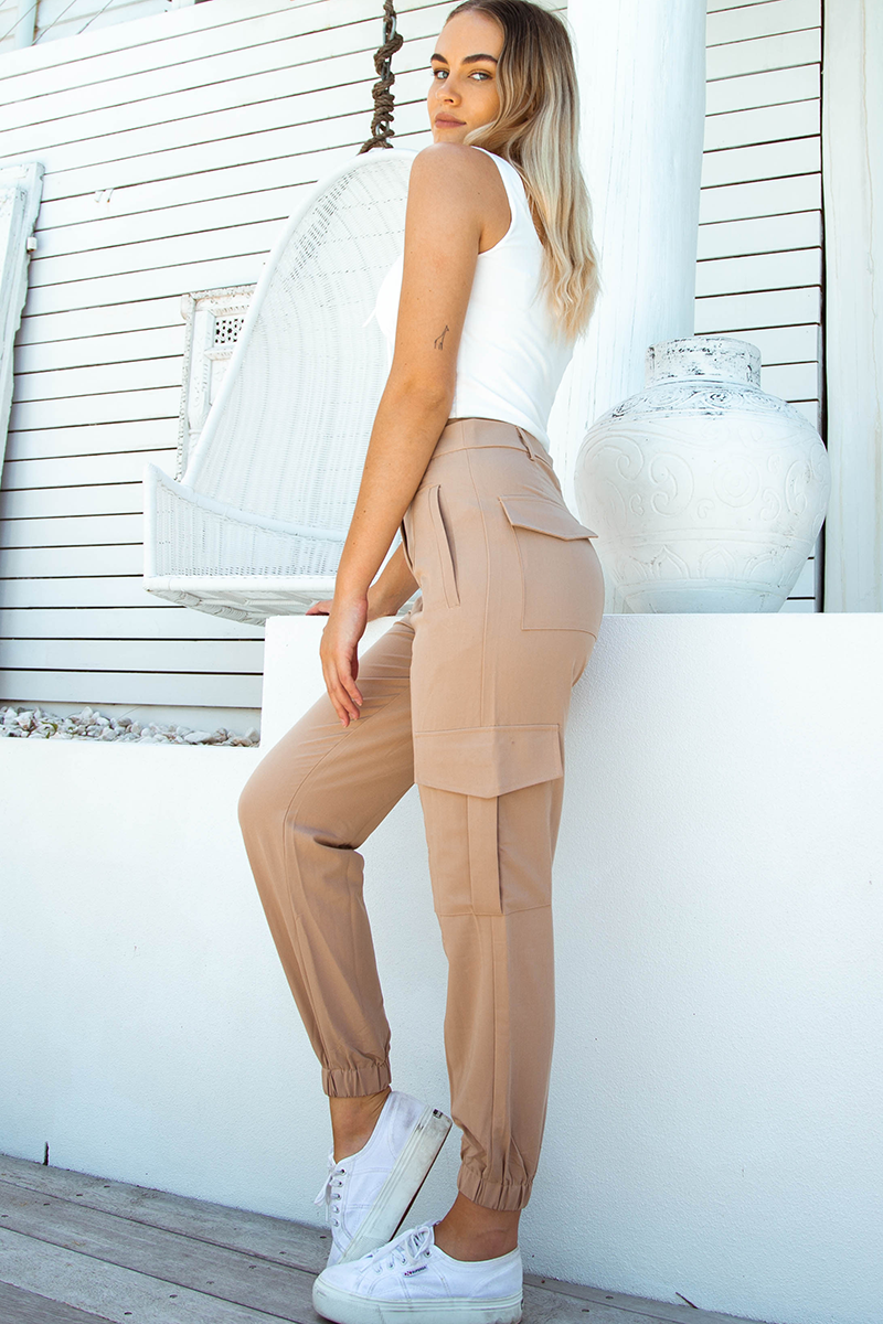 Presley Cargo Pants (Tan)