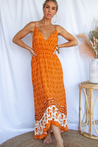 Portofino Maxi Dress (Orange)