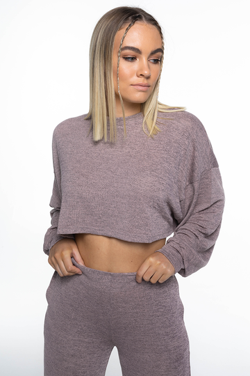 LOUNGE Long Sleeve Top (Moroccan Pink)