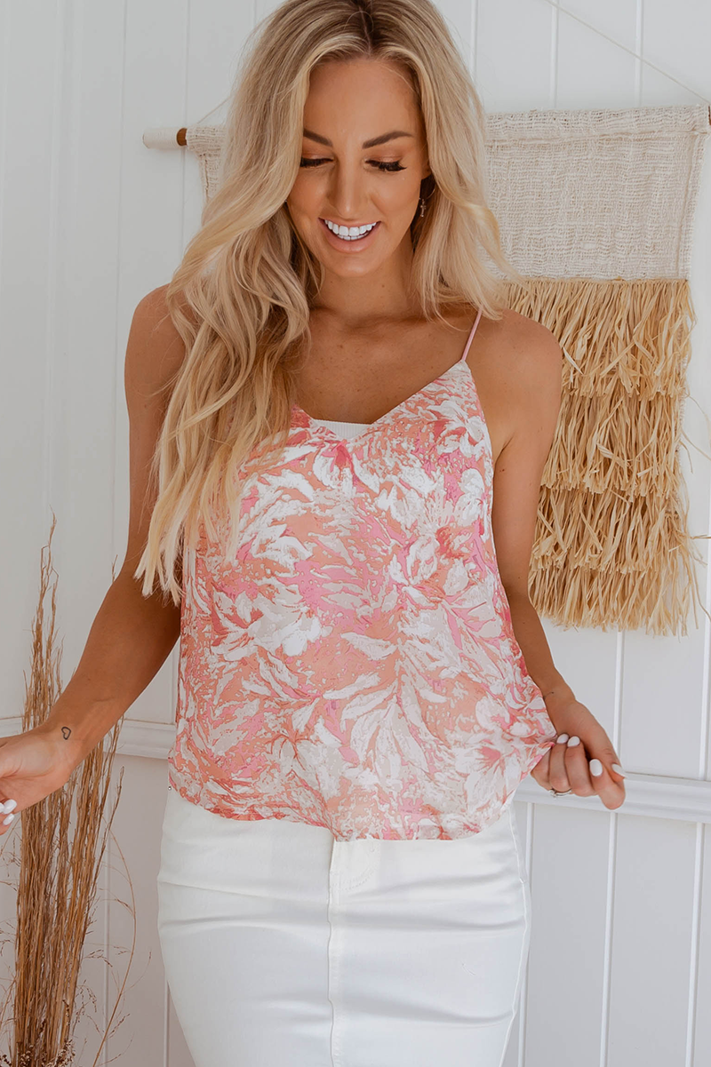 Lilly Top (Pink Swirl)