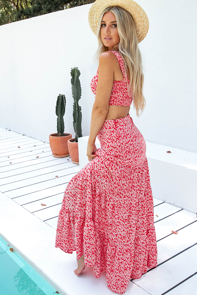 Havana Maxi Set (Red/White)