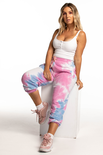 Miami Track Pants (Pink/Blue)