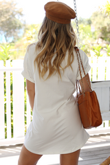Peachy Dress (White)